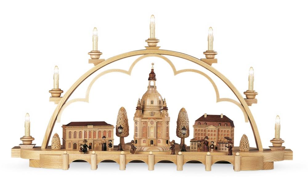 Schwibbogen Alt Dresden, mittelgroß, natur