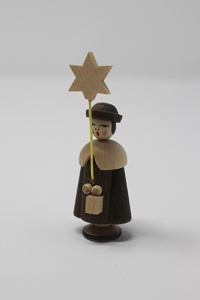 Caroler with lantern and star