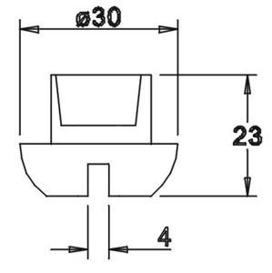Tülle 23,0x30,0 4mm geschlitzt für 14er Einsatz