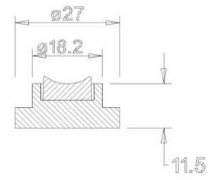Keramiklager incl. Befestigung (27x11,5)