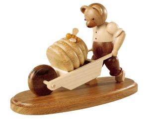 Bear, male, with wheelbarrow