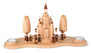 SA Kerzenhalter Frauenkirche m. Pferdekutsche