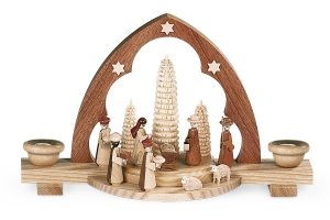 Candle arch nativity scene,