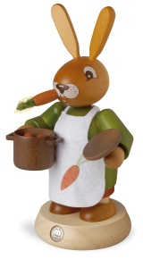 Smoking man Easter bunny, female