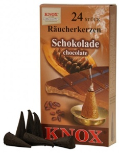 Incense candle, chocolate