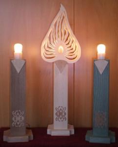 elektr.bel. Kerzen und Aufsteckmotive
