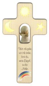 Kreuz mit Engel, alabaster