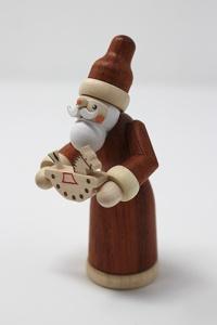 Santa with rocking horse