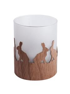 Windlicht mit satiniertem Echtglas