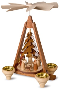 Pyramid nativity scene