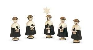 Carolers, 5 figurines, small,