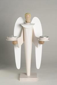 Engel mit Teelichte,