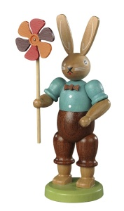 Easter bunny, male, with wind wheel