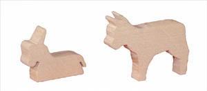 ML Ochs und Esel, 7 cm,