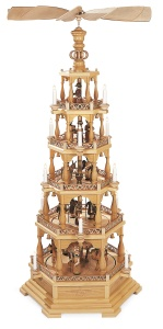 Pyramid Christmas story, 5-tier, natural