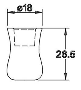 Tülle 26,5x18,0 für 10er Einsatz