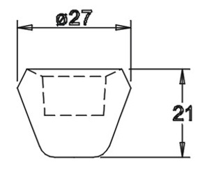 Tülle 21,0x27,0 für 14er Einsatz