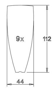 Flügel 112x44x2,1