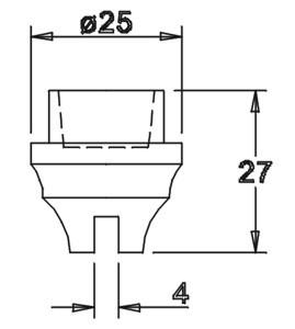 Tülle 27,0x25,0 4mm geschlitzt für 14er Einsatz