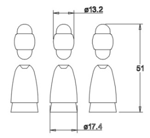 Holzfigurensatz 1: Heilige Drei Könige  4,5cm