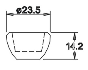 Tülle 14,2x23,5 für 14er Einsatz