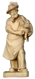Bauer mit Ferkel 14 cm