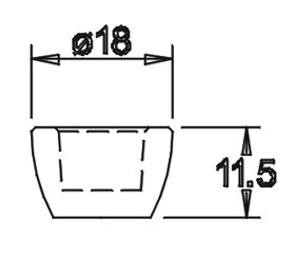 Tülle 11,5x18,0 für 10er Einsatz