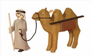 Treiber mit Kamel&Pakete, 13 cm,