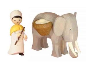 Elefantentreiber stehend, 13 cm,