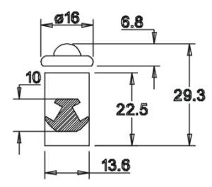 Zaunsäule mit Abdeckung  (für sechseckige Pyramidenplatte)
