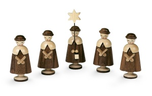 Carolers, 5 figurines, medium size,