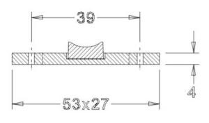Keramiklager incl. Befestigung (53x27x4)