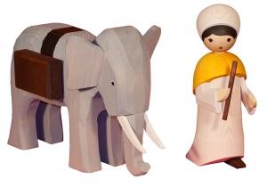 Elefantentreiber, 22 cm,