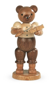 Bear, male, wood carver
