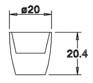 Tülle 20,4x20,0 für 14er Einsatz