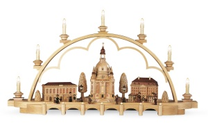 Candle arch old city of Dresden, medium, natural