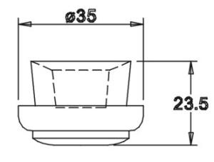 Tülle 23,5x35,0 für 14er Einsatz