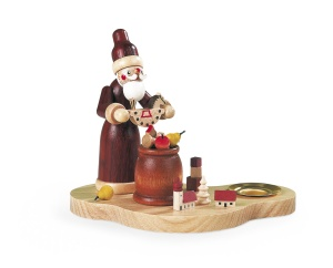 Candleholder Santa giving out