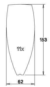 Flügel 153x62x2,1