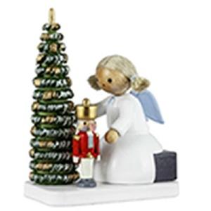 Flachshaar-Engel und Weihnachtsmann