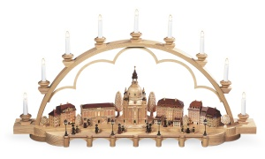 Candle arch old city of Dresden, large, natural