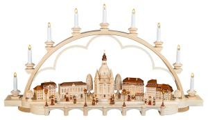 Schwibbogen Alt Dresden groß, natur
