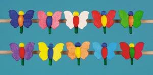 Schmetterling, klein, mit Klammer,