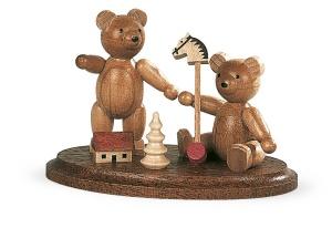 Zwei spielende Bärenkinder
