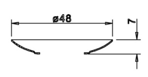 48er Tropfenschale für 20er Metalltülle