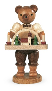 Bear, male, wooden toy maker