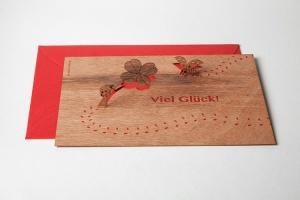 Holzpostkarten, PopUp-Motiv
