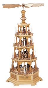 Pyramid Christmas story, 4-tier, natural