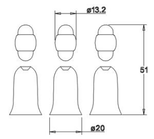 Holzfigurensatz 2: Heilige Drei Könige  4,5cm
