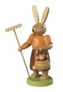 Easter bunny, female, gardener